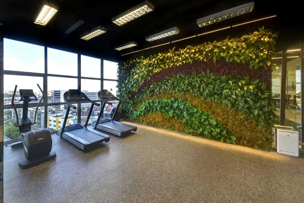 Artificial Vertical Garden In Gym Greenturf Asia