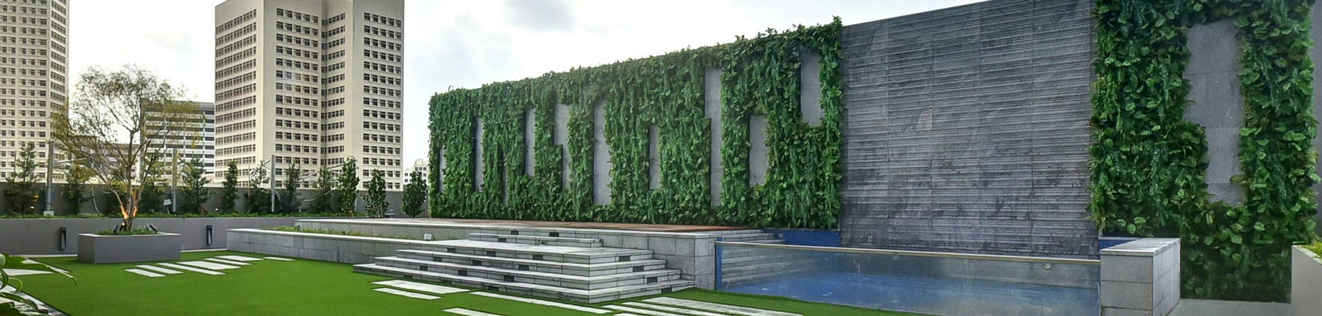 Artificial Vertical Garden Greenturf Asia