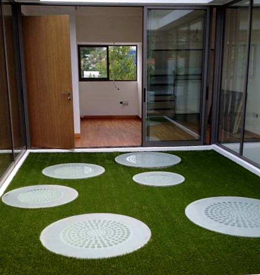 GreenTurf Artificial Turf in an Airwell