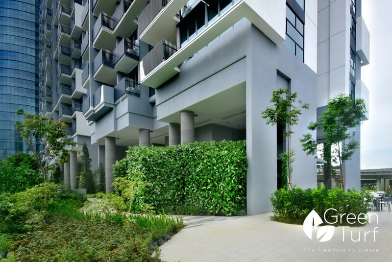 Sound Insulation for Lower Level Residents with Artificial Green Wall Cladding