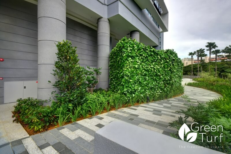 Landscaping Condominium with Artificial Green Walls