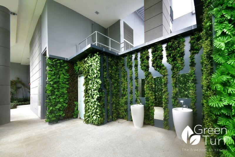 Outdoor Artificial Vertical Garden Wall At Jurong