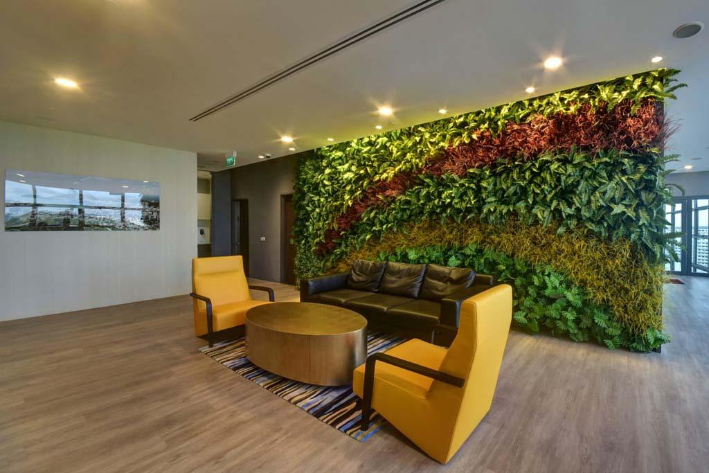 Reception Area Vertical Gardens Greenturf Asia