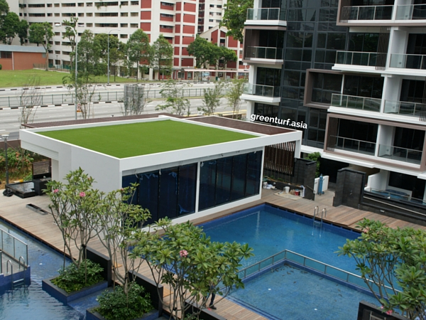 Condominium Rooftop with Artificial Turf