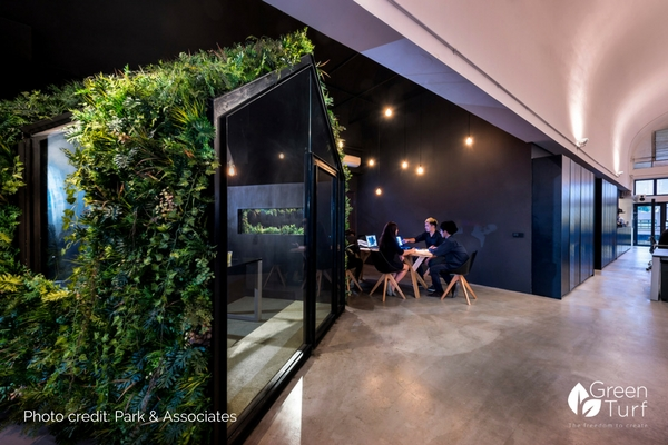 Architect's Office with Artificial Green Wall