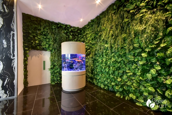 Artificial Green Wall featuring Monstera