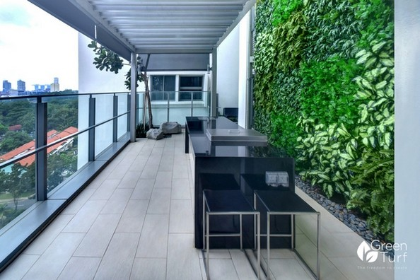 Project by GreenTurf at a condominium in Singapore