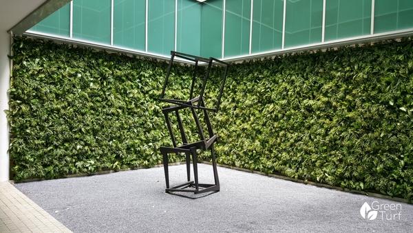 Vertical Garden Project using Boston Fern by GreenTurf