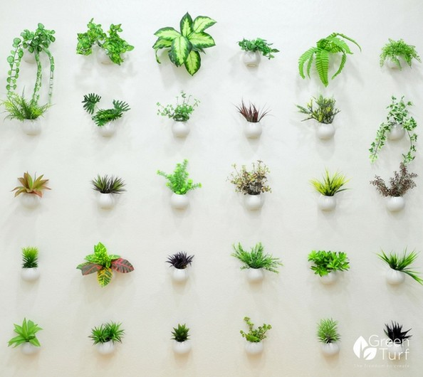 Wide selection of artificial plants