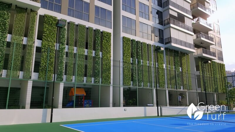 Modern outdoor wall covering greenturf asia for Exterior wall covering materials