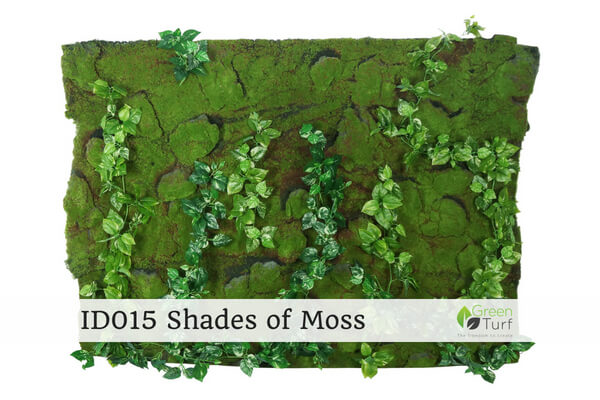 ID015 Indoor Artificial Green Wall Shades of Moss
