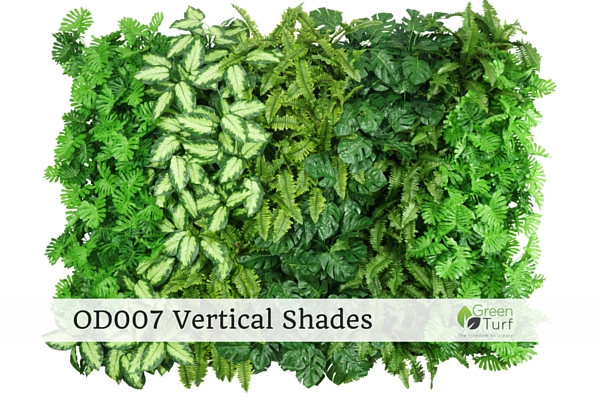 OD007 Outdoor Artificial Green Wall Vertical Shades