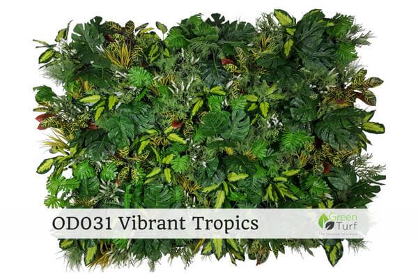 OD031 Outdoor Artificial Green Wall Vibrant Tropics