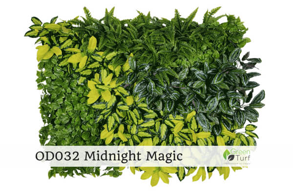OD032 Outdoor Artificial Green Wall Midnight Magic