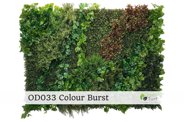OD033 Outdoor Artificial Green Wall Colour Burst