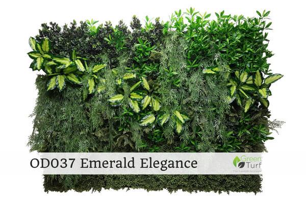 OD037 Outdoor Artificial Green Wall Emerald Elegance