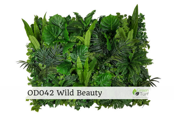 OD042 Outdoor Artificial Green Wall Wild Beauty