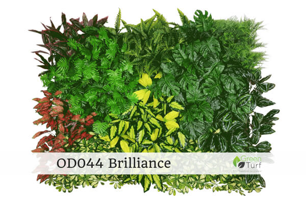 OD044 Outdoor Artificial Green Wall Brilliance