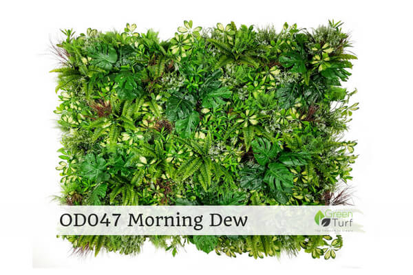 OD047 Outdoor Artificial Green Wall Morning Dew