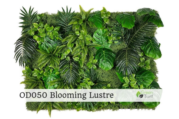 OD050 Outdoor Artificial Green Wall Blooming Lustre
