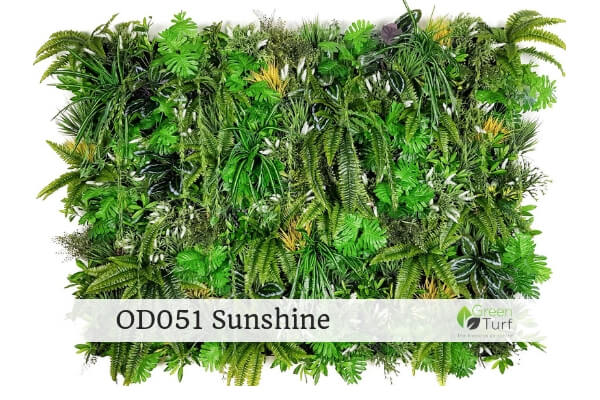 OD051 Outdoor Artificial Green Wall Sunshine