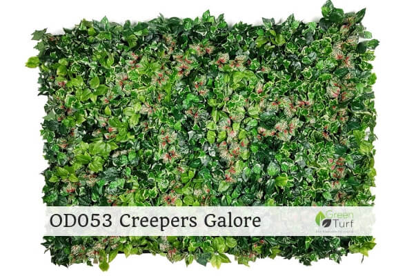 OD053 Outdoor Artificial Green Wall Creepers Galore