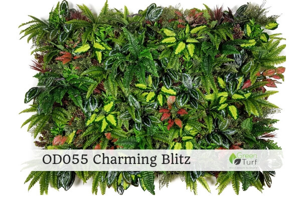 OD055 Outdoor Artificial Green Wall Charming Blitz