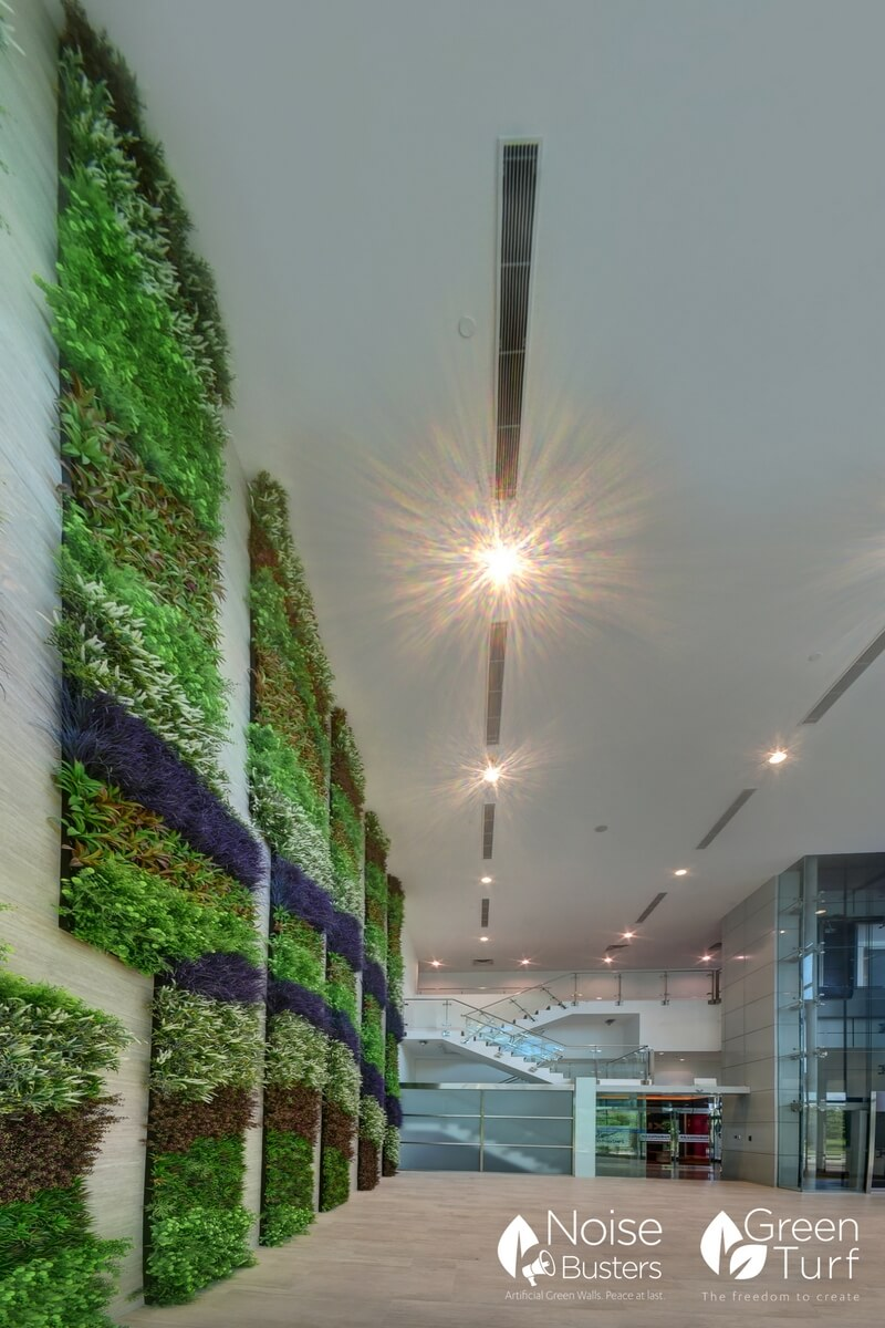 Building Lobby with Artificial Green Wall