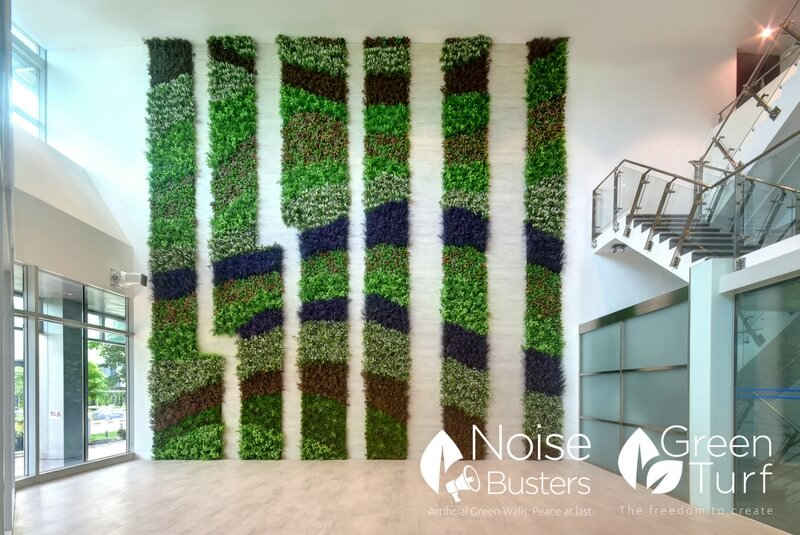 Wave-Patterned Artificial Vertical Garden Wall