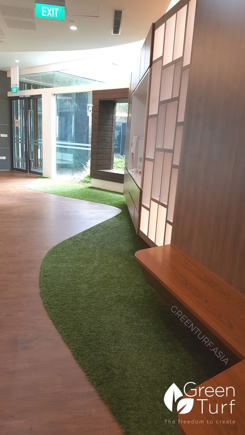 Artificial turf floor design