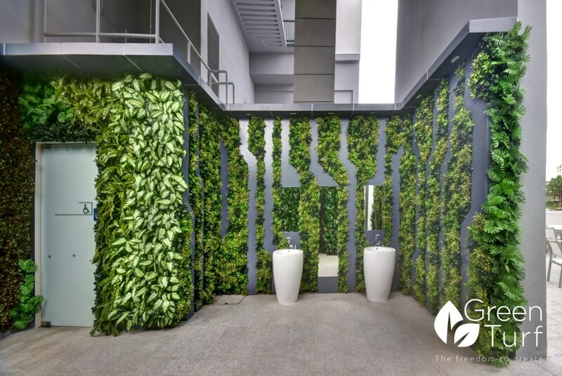 Artificial Foliage used in Creative Ways at a Condominium Clubhouse