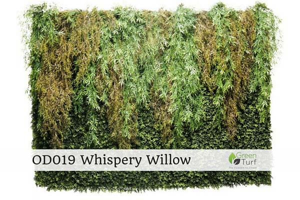 OD019 Outdoor Artificial Vertical Garden Whispery Willow