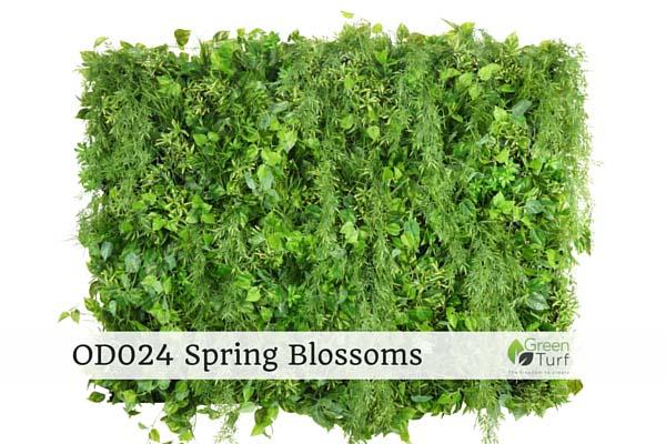 OD024 Outdoor Artificial Vertical Garden Spring Blossoms