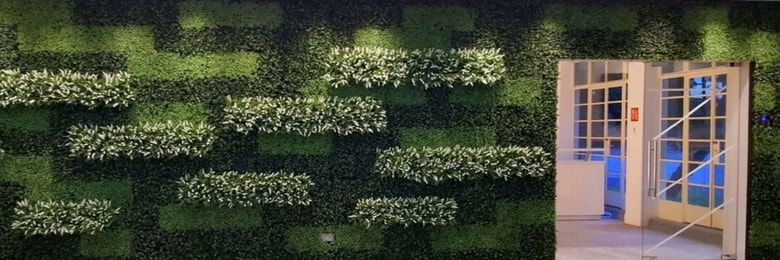 Artificial Green Wall in Student Hostel