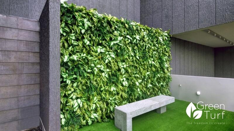 Modern Outdoor Wall Covering - GreenTurf Asia on Green Wall Patio id=74669