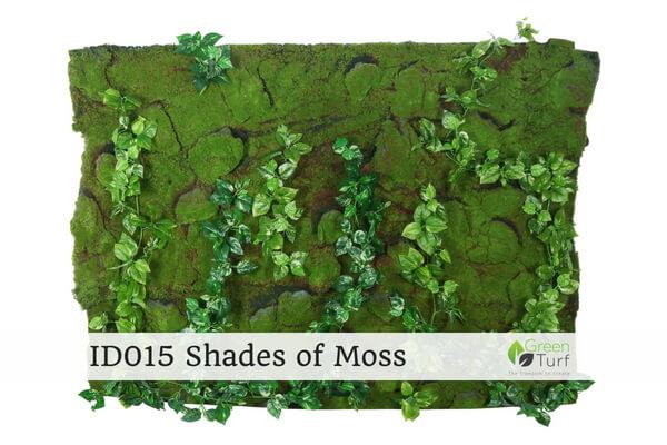 ID015 Indoor Artificial Green Wall Shades of Moss