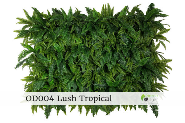 OD004 Outdoor Artificial Green Wall Lush Tropical