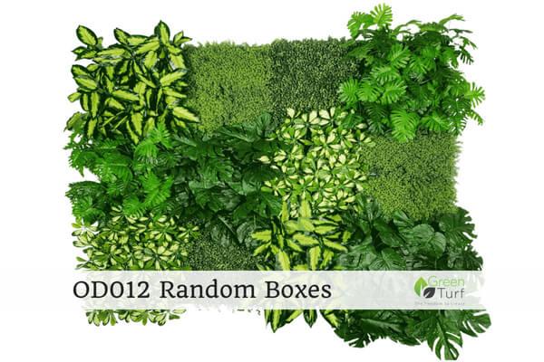 OD012 Outdoor Artificial Green Wall Random Boxes
