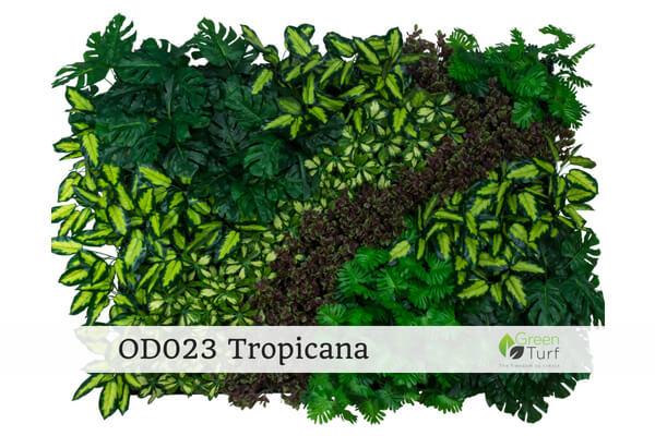 OD023 Outdoor Artificial Green Wall Tropicana