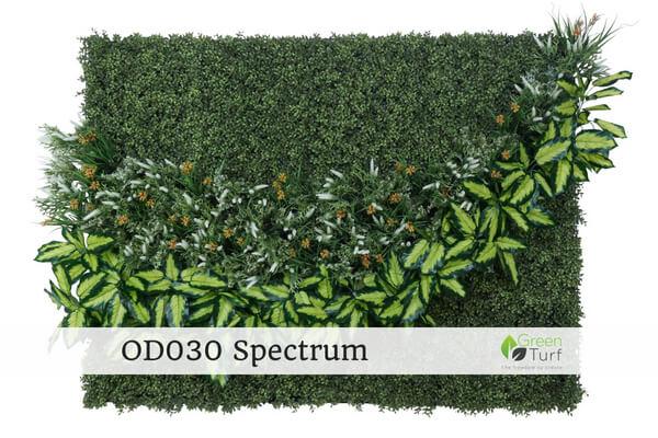 OD030 Outdoor Artificial Green Wall Spectrum
