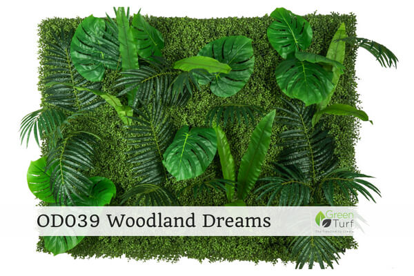 OD039 Outdoor Artificial Green Wall Woodland Dreams