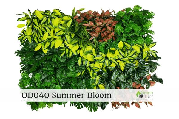 OD040 Outdoor Artificial Green Wall Summer Bloom