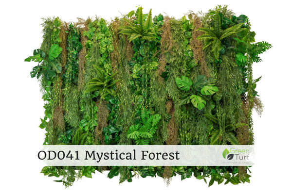 OD041 Outdoor Artificial Green Wall Mystical Forest