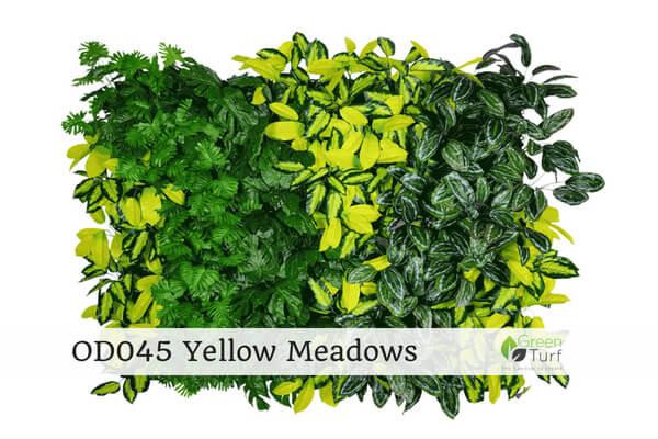 OD045 Outdoor Artificial Green Wall Yellow Meadows