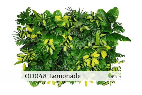 OD048 Outdoor Artificial Green Wall Lemonade