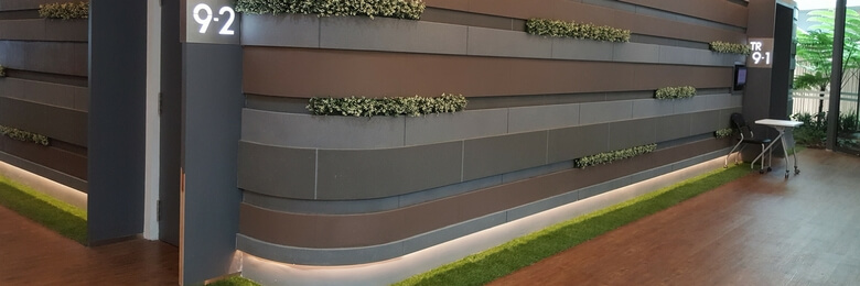 Corporate Office Makeover with Artificial Vertical Garden and Artificial Turf