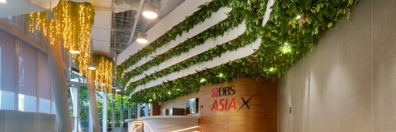 Enhancing Your Banking Experience with Artificial Vertical Gardens
